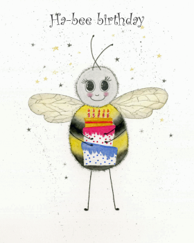 Ha-bee birthday greetings card