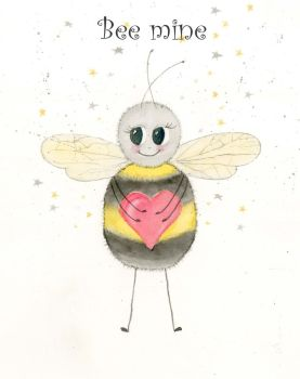 Bee-mine Valentine's greetings card