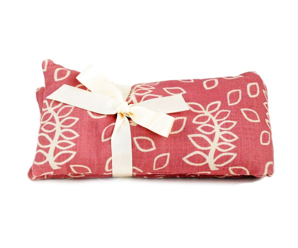 Wheat and lavender heat bag in dusky rose design