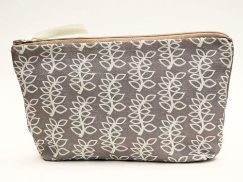 Medium pouch in stone leaves design
