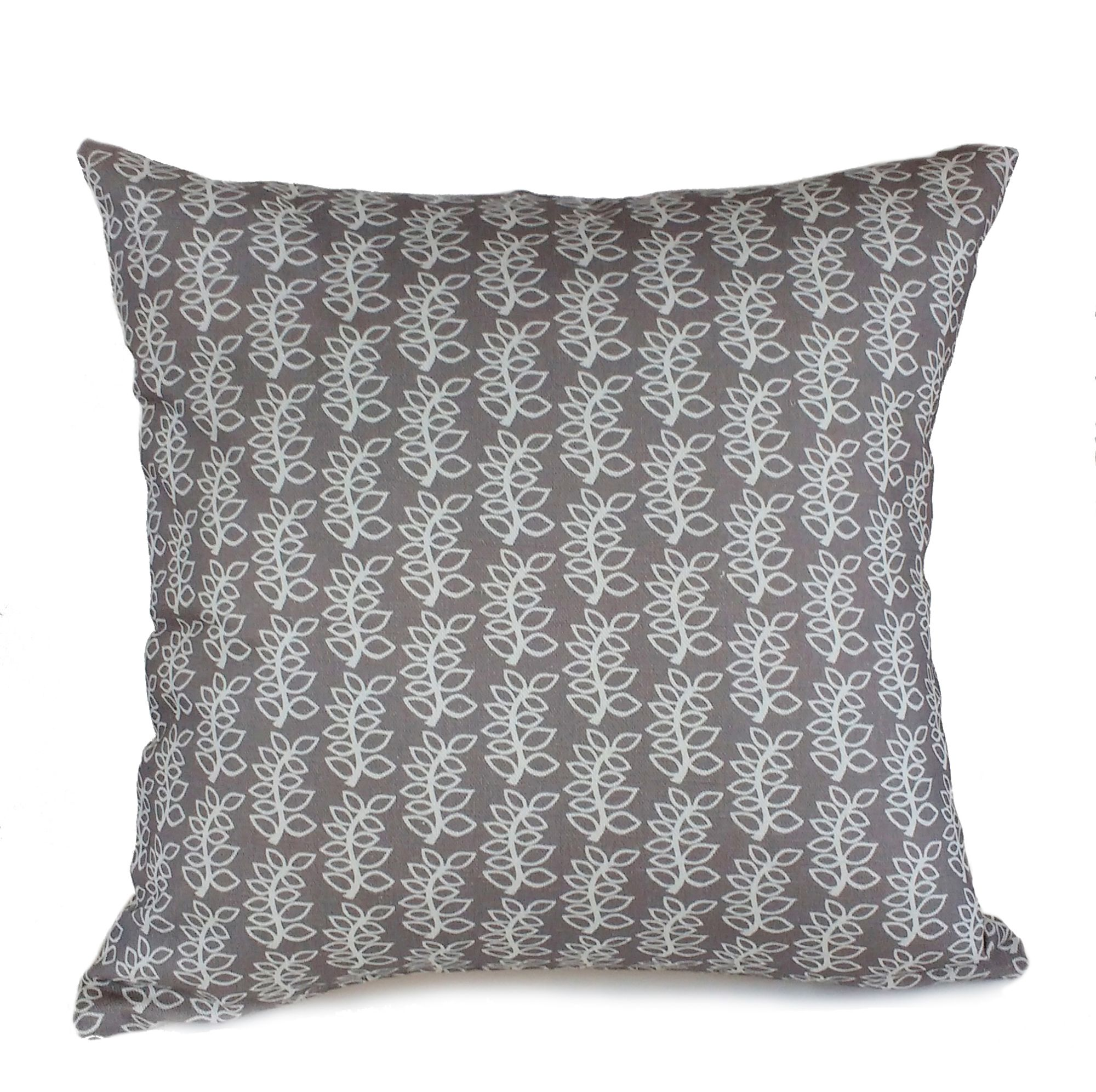 Stoney grey wavy leaves cushion