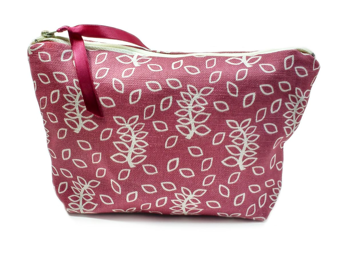 Dusky leaves cosmetic pouch