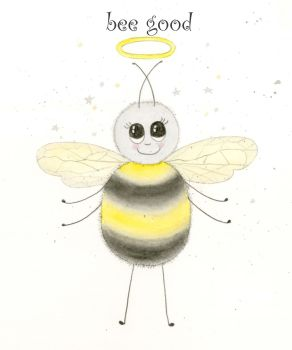 Bee-good greetings card