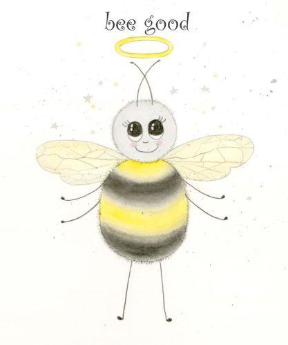 Bee-good greetings card