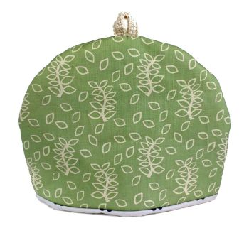 Sage green leaves tea cosy