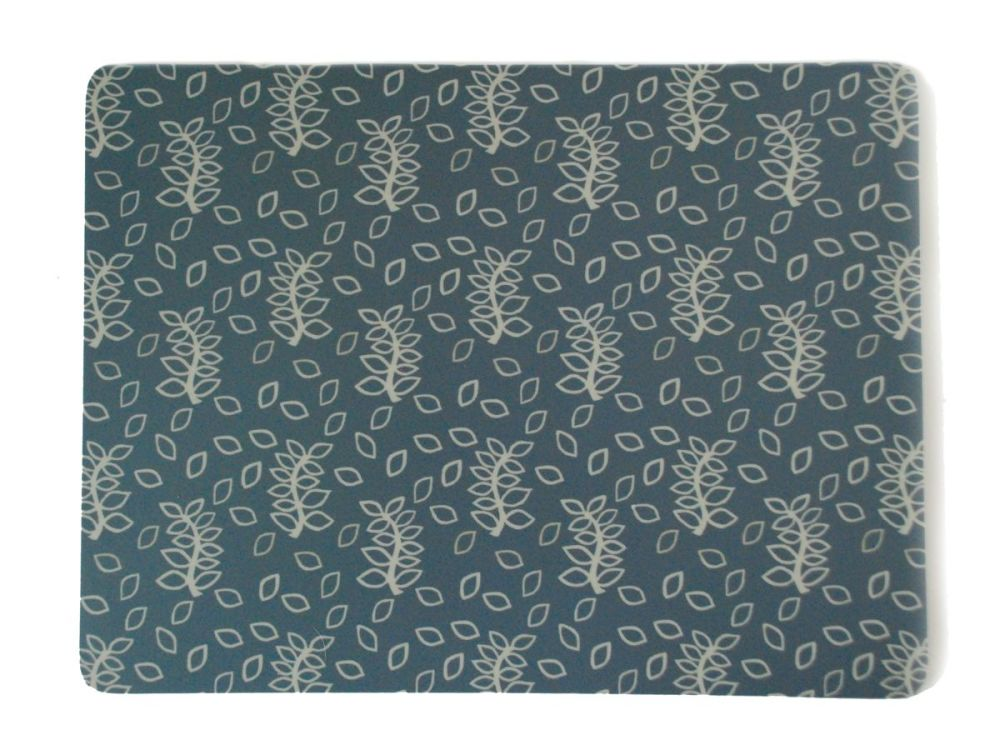 Blue leaves place mats
