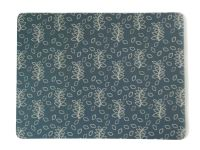 Blue leaves melamine place mats