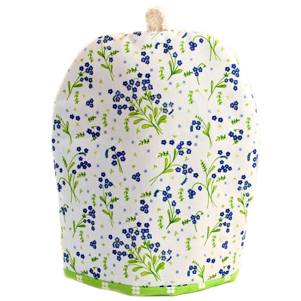 Forget-Me-Not coffee cosy