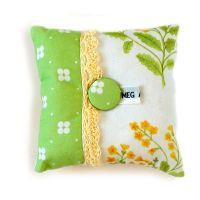 Cowslip design pin cushion