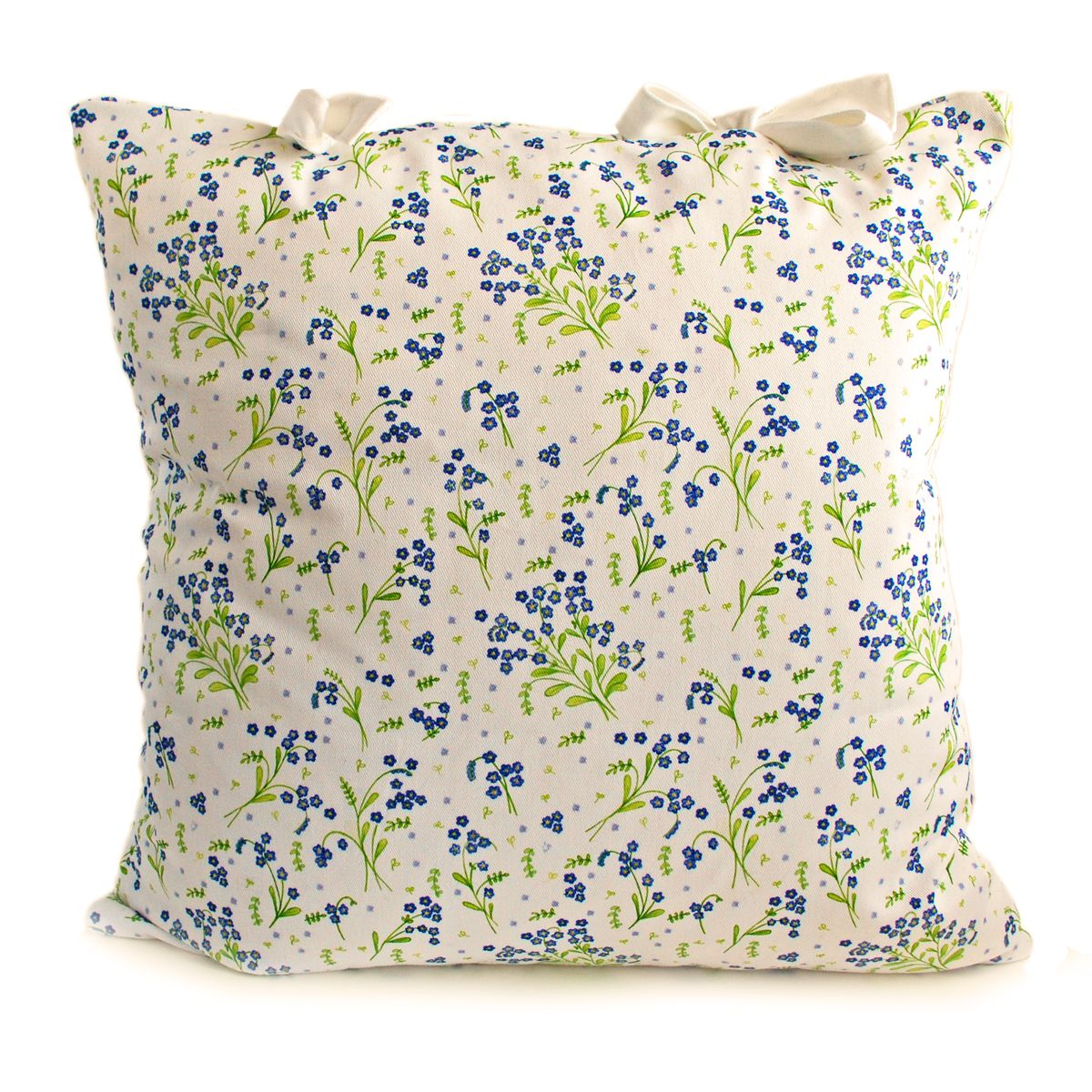 Floral forget me not handmade cushion