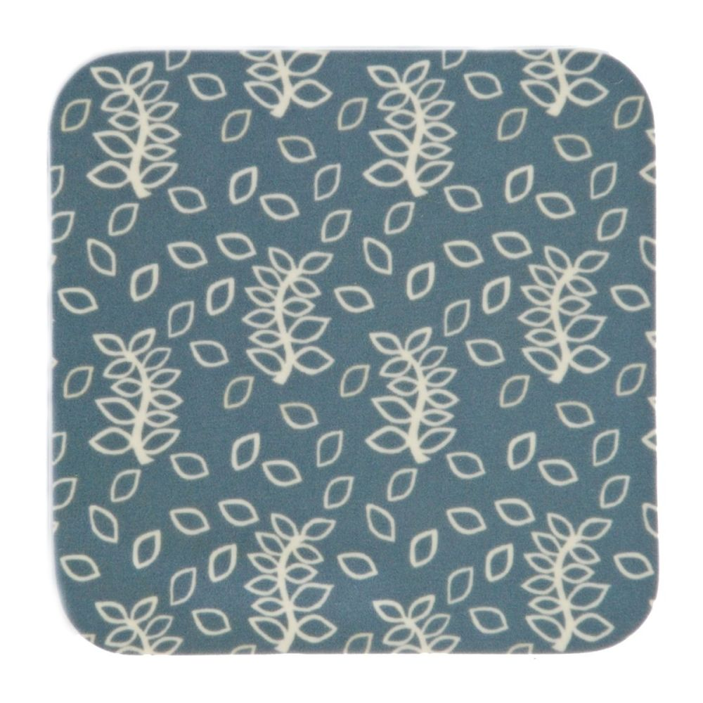 Blue leaves coasters
