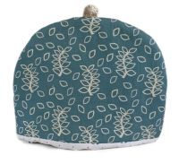 Blue leaves design tea cosy