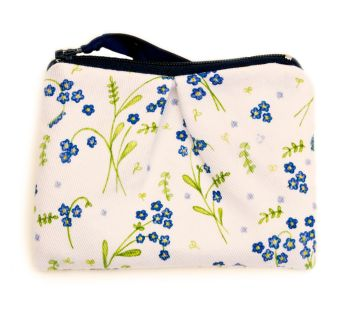 Coin purse in Forget-Me-Not design