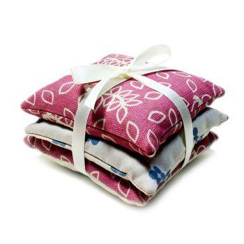 Dusky rose leaves lavender pillows gift
