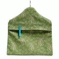 Green leaves peg bag