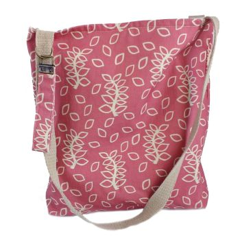 Dusky rose leaves tote bag