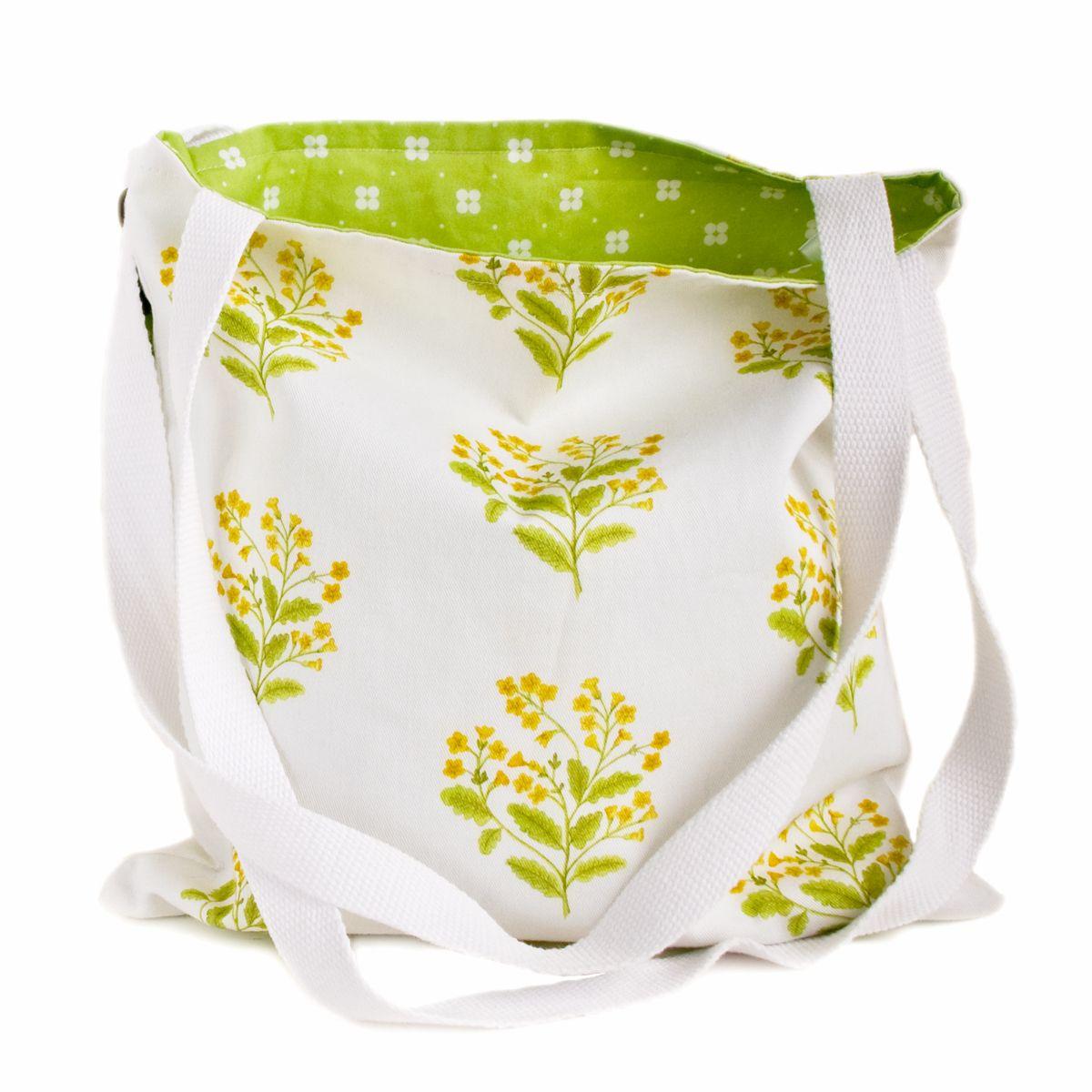 Summer tote bag in Cowslip design
