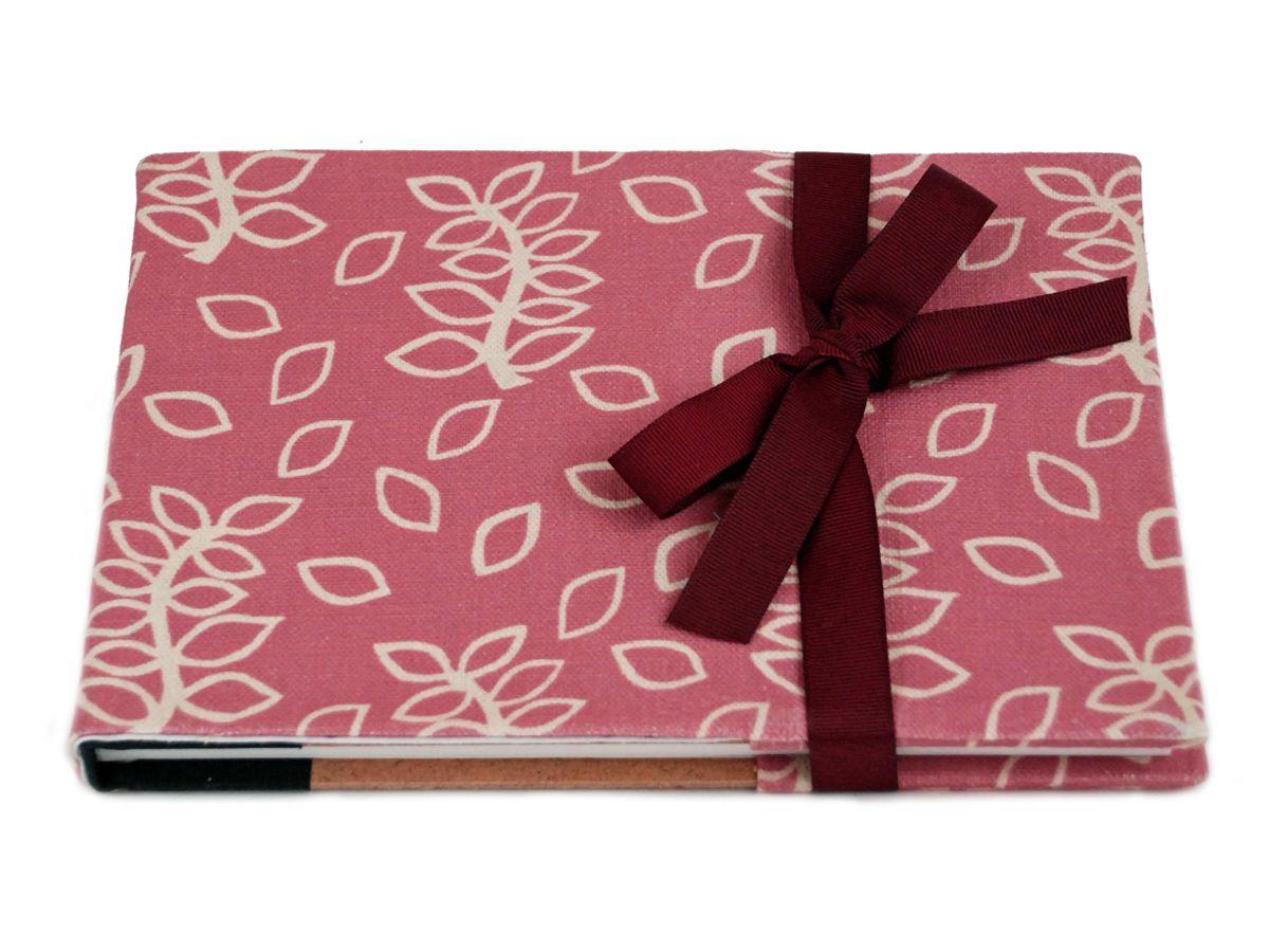 Dusky rose leaves notebook