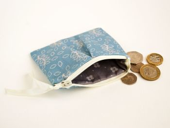 Duck egg leaves coin purse