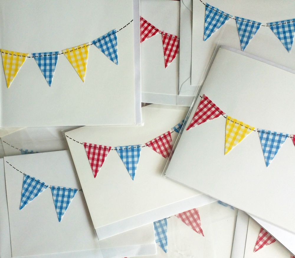 bunting greetings cards