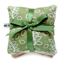 Green leaves lavender pillows gift