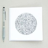 Floral  world design greetings card