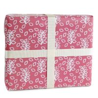 Dusky rose leaves gift wrap