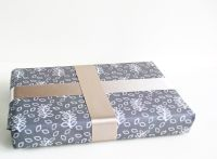 Stone grey leaves gift wrap