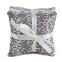 Stone grey leaves lavender pillows gift