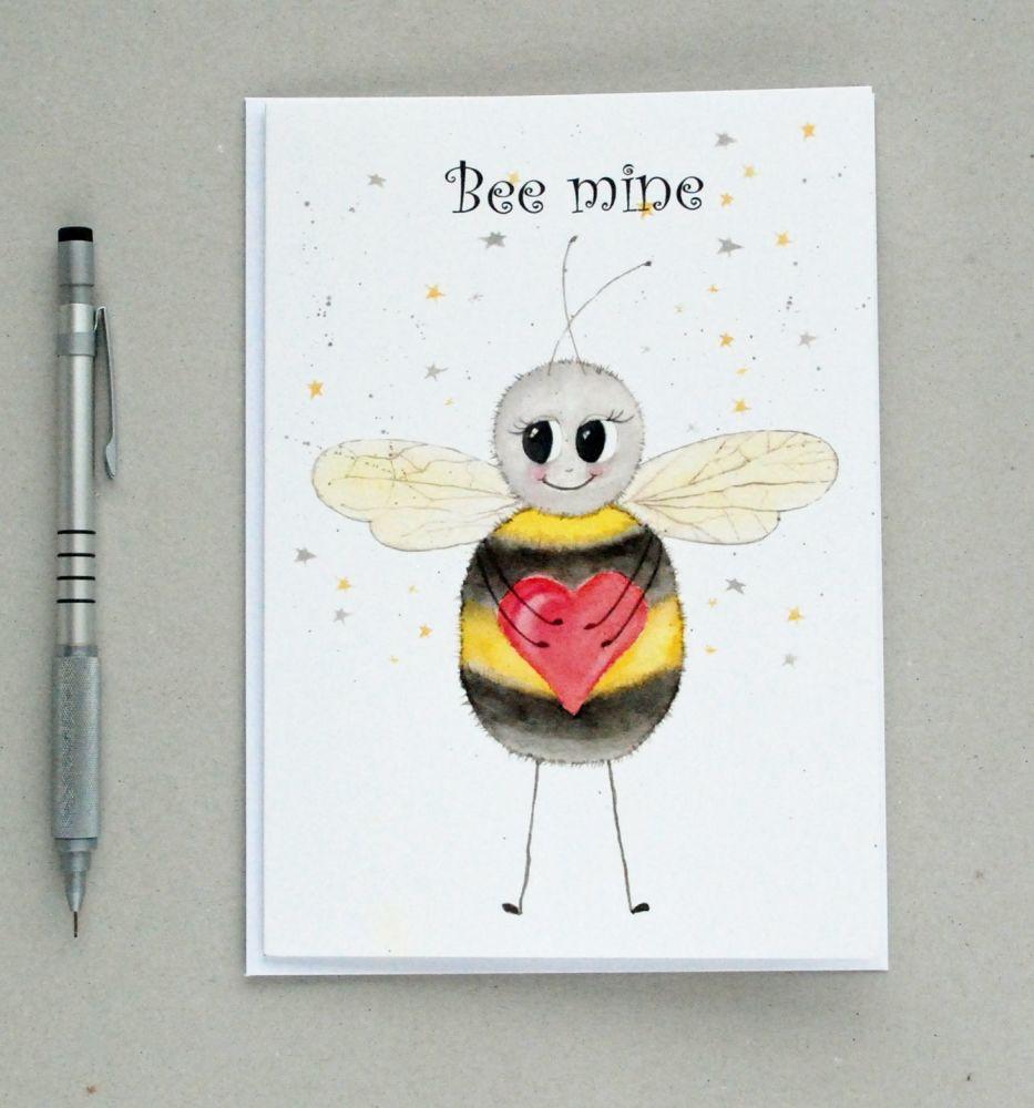 Bee-mine Valentine's greetings card