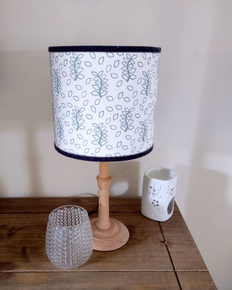 Duck egg leaves lampshade
