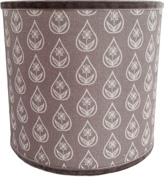 Shale grey flower drop lampshade