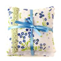 Lavender pillows in Forget-Me-Not design