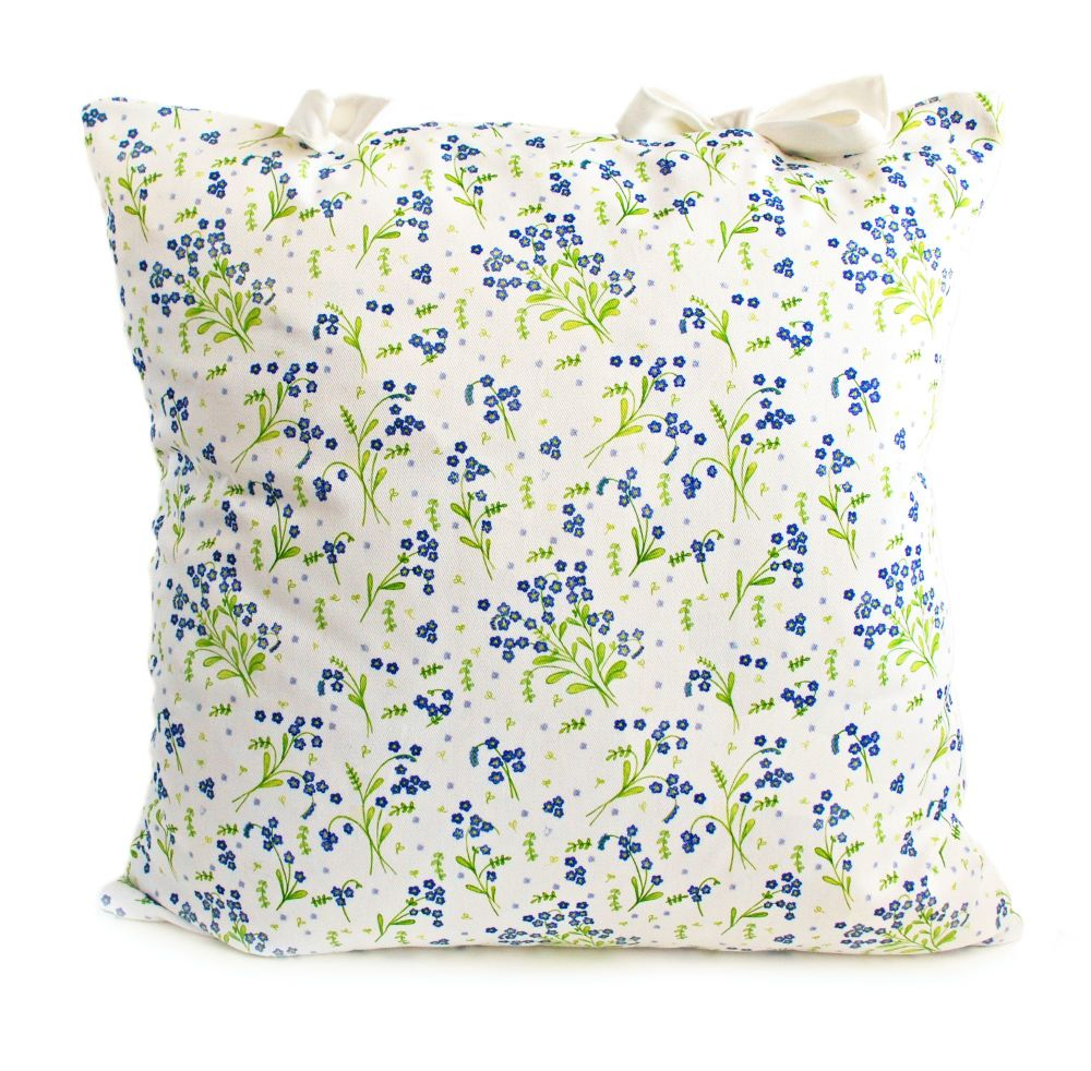 Forget-Me-Not design cushion with ties