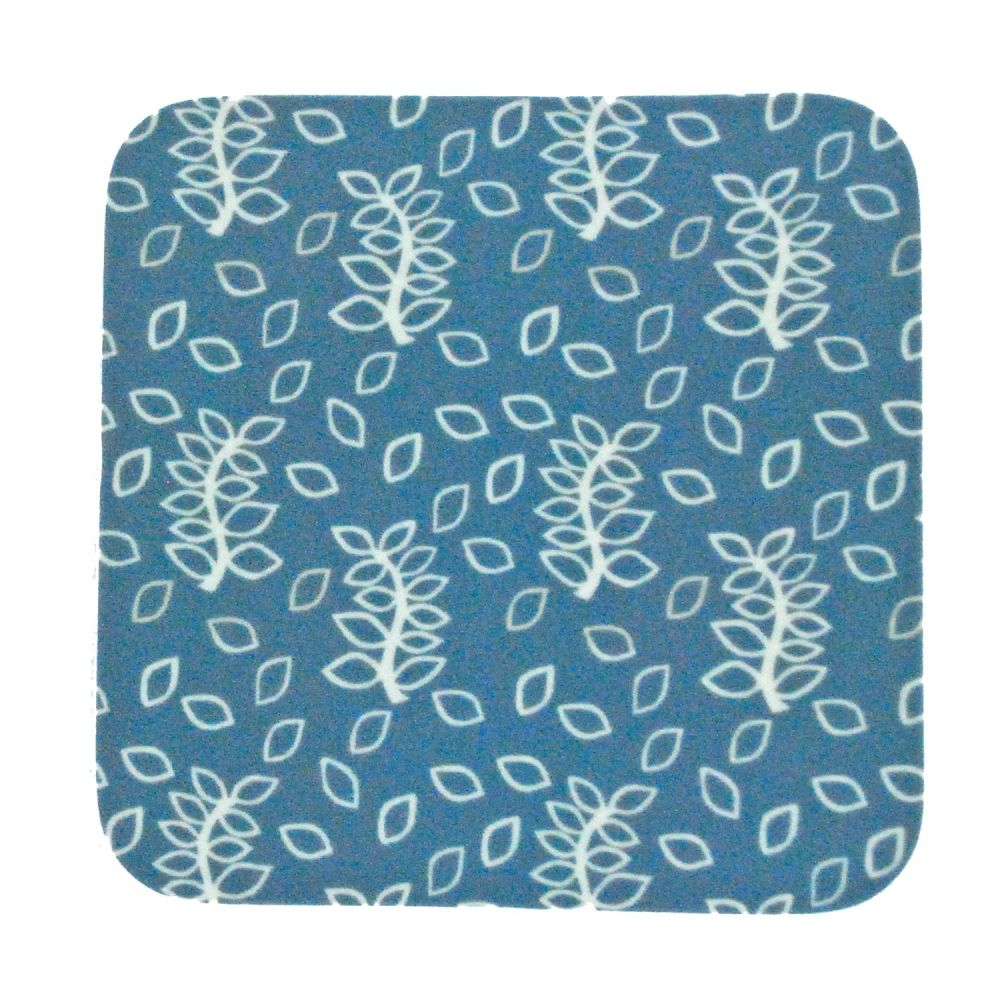 Blue leaves coasters - lighter blue