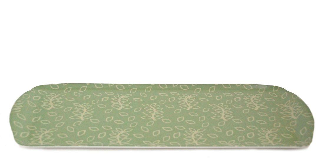 Green leaves melamine sandwich tray