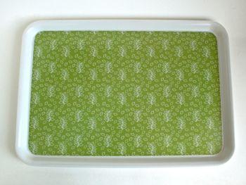 Green leaves large melamine tray