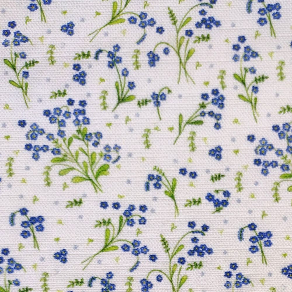forget-me-not fabric
