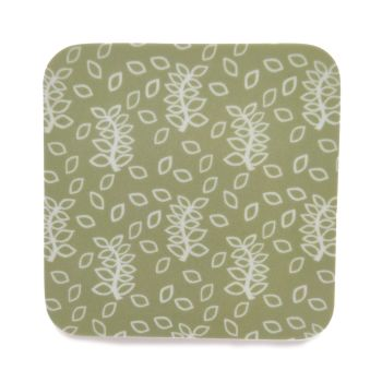 Green leaves coasters