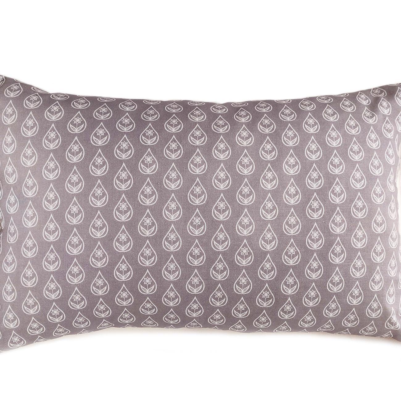 Large lumbar cushion in shale grey