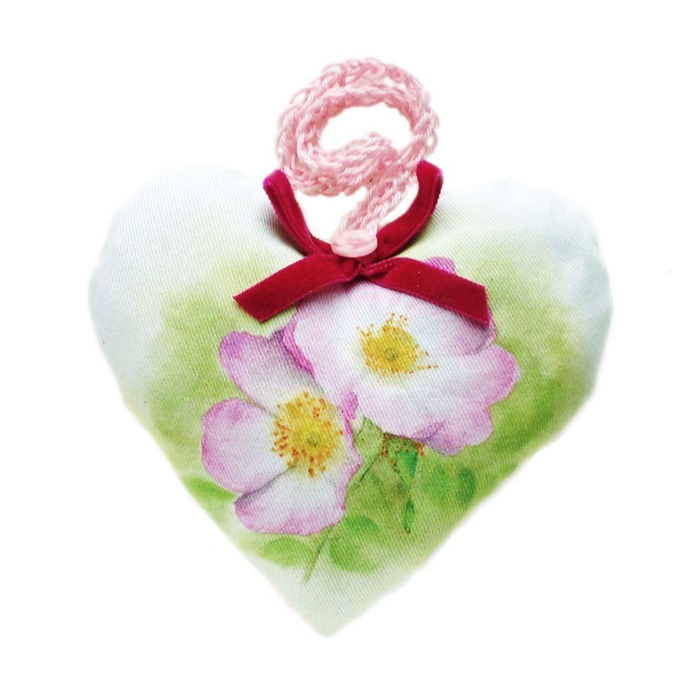 Rosa lavender heart with velvet bow