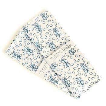 Blue leaves tea towel
