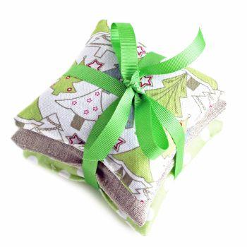 Christmas green trees organic lavender gift