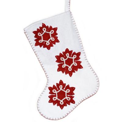 White snowflake Christmas stocking