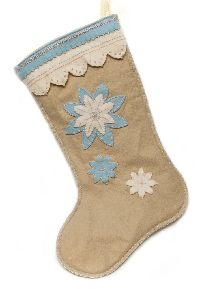 Pastel colour Christmas Stocking