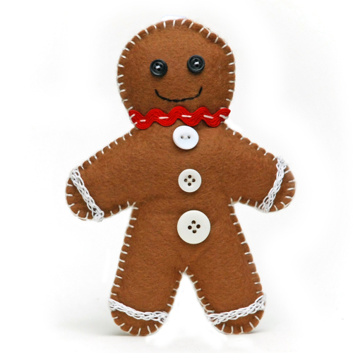 Christmas felt gingerbread