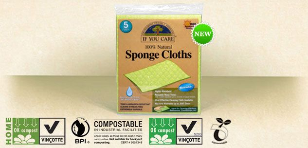 IF YOU CARE 100% Natural Sponge Clothsss Firelighters