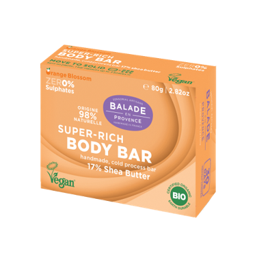 100% Natural Super-Rich Body Bar with 17% Shea Butter