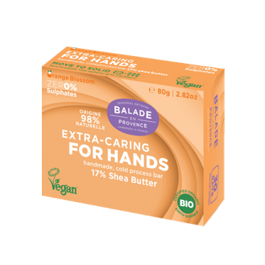 100% Natural Extra-Caring for hands with 17% Shea Butter