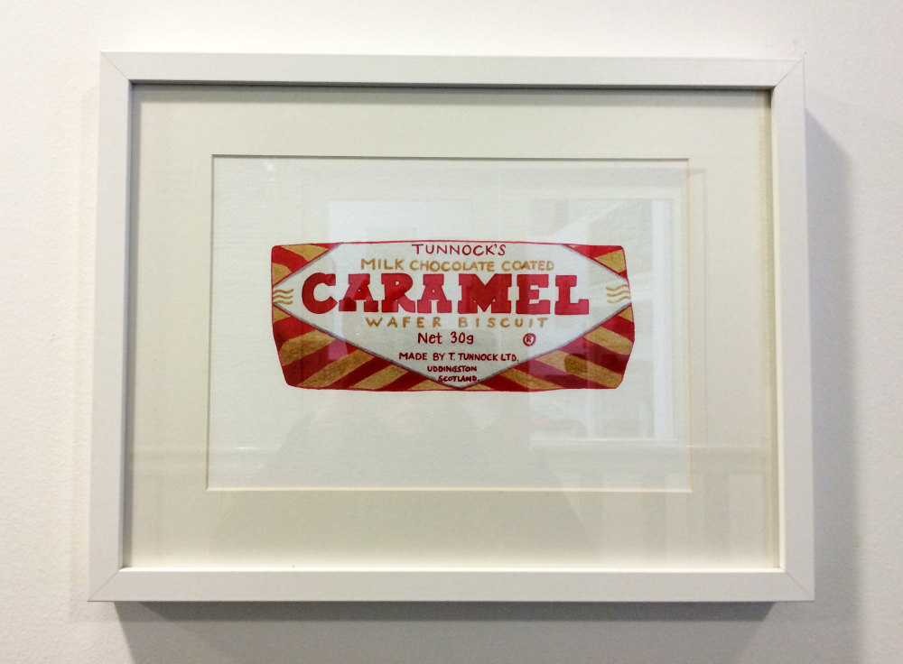framed tunnock's caramel wafer print